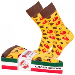 Talla: 43/46 Calcetines de vestir en caja - ideal para regalo - Algodón BIO - Crazy Socks - divertidos y originales