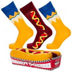 Talla: 35/38 3pares Calcetines de vestir en caja - ideal para regalo - Algodón BIO- Crazy Socks - divertidos y originales
