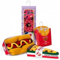 Talla: 39/42 Fast menú - 8 pares de calcetines de vestir en caja - ideal para regalo - Algodón BIO - Crazy Socks
