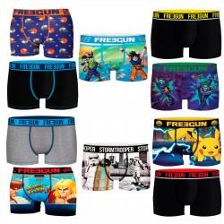Talla M: Pack de 10 boxers FREEGUN aleatorio