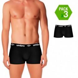 Set de 3 boxers UMBRO (3NEGROS) - 100% algodón - color negro(x3)