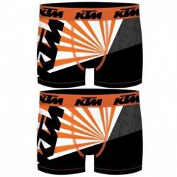 Talla S: Set 2 Boxer KTM - microfibra (92% poliéster - 8% elastano) - multicolor