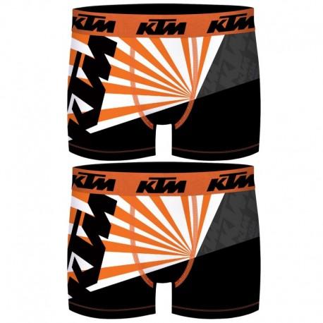Talla XL: Set 2 Boxer KTM - microfibra (92% poliéster - 8% elastano) - multicolor