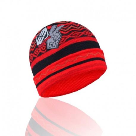 Gorro FREEGUN para hombre, con logo bordado, talla única, 100% acrílico, rojo