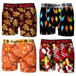 Pack 4 calzoncillos Crazy Boxer Festividad para niño
