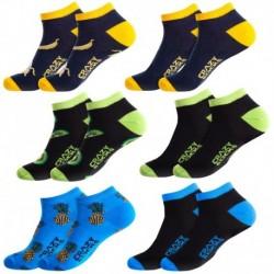 39/42 Set 6pcs calcetines de vestir - tobilleros - Crazy Socks
