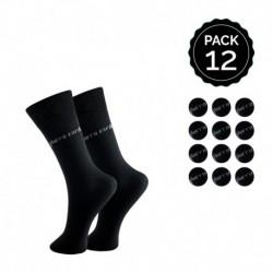 Set 12 pares de calcetines Pierre Cardin Negro 64% poliéster 28% algodón con Logo