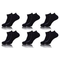 Pack 6 pares de calcetines tobilleros KAPPA en color negro
