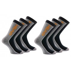 """Pack 6 pares de calcetines """"tennis"""" HEAD en color gris y negro"""