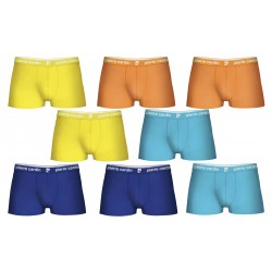 Set 8 boxers Pierre Cardin Naranja/Rosa/Gris/Rojo 95% algodón 5% elastano