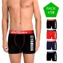 Pack 10 calzoncillos sorpresa Yamaha en varios colores para hombre