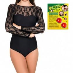 Pack body Nella en color negro y 2 bolas de aceite de coco con aroma de frutas