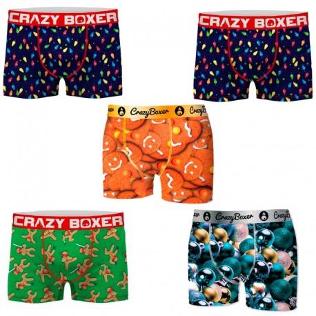 Pack 5 calzoncillos Crazy Boxer surtidos para hombre