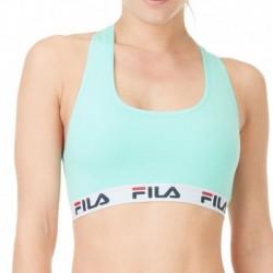 Sujetador deportivo FILA en color azul turquesa