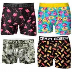 Pack 4 calzoncillos Craxy Boxer en varios colores para hombre en microfibra