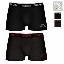 Pack 2 calzoncillos Kappa en color negro para hombre