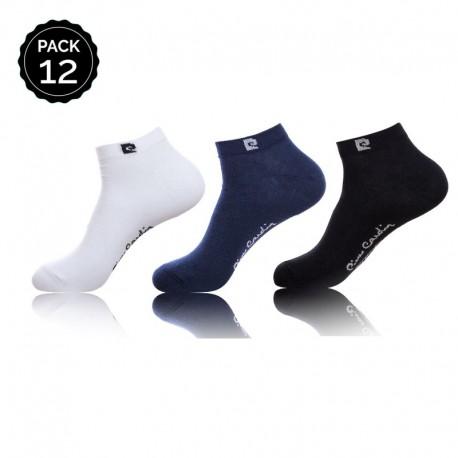Sets 12 pares de calcetines cortos Pierre Cardin en varios colores