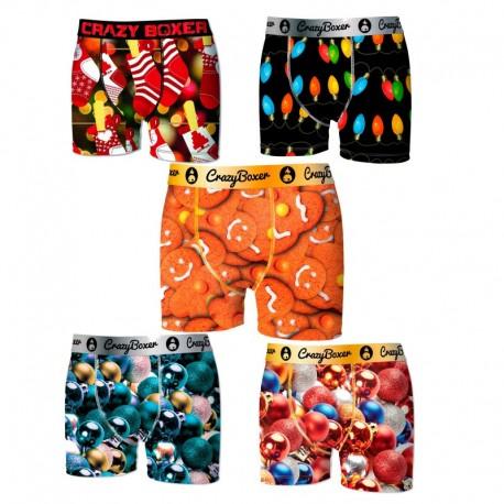 Pack de 5 calzoncillos Crazy Boxer infantiles estampados en varios colores