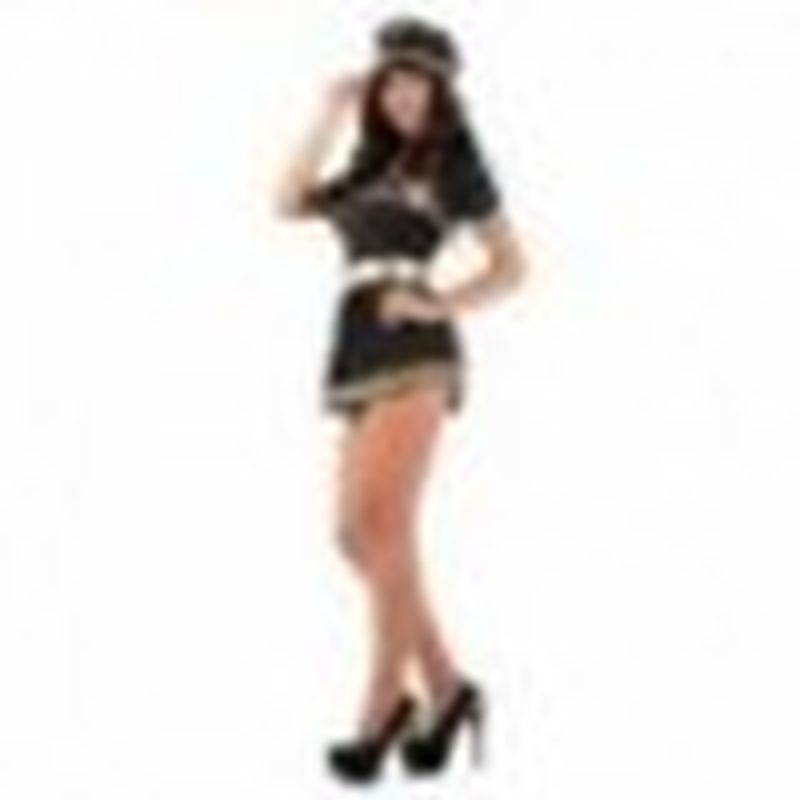Disfraz Stewardess Nina Negro
