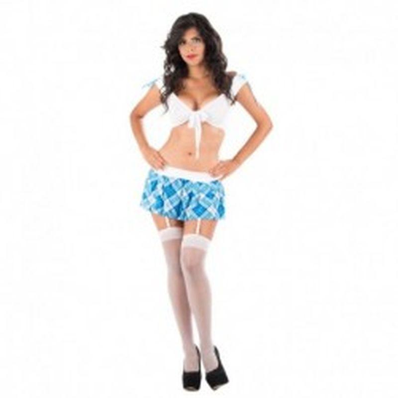 Disfraz Schoolgirl Nathaly Azul