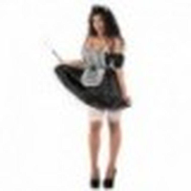 Disfraz Maiden Alexia Negro