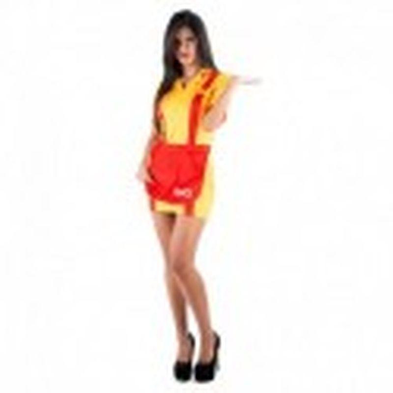 Disfraz Camarera Amarillo