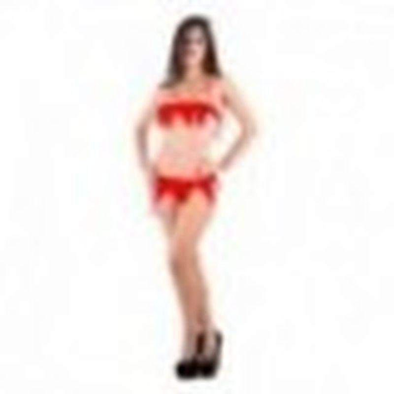 Disfraz Sexy duende Rojo