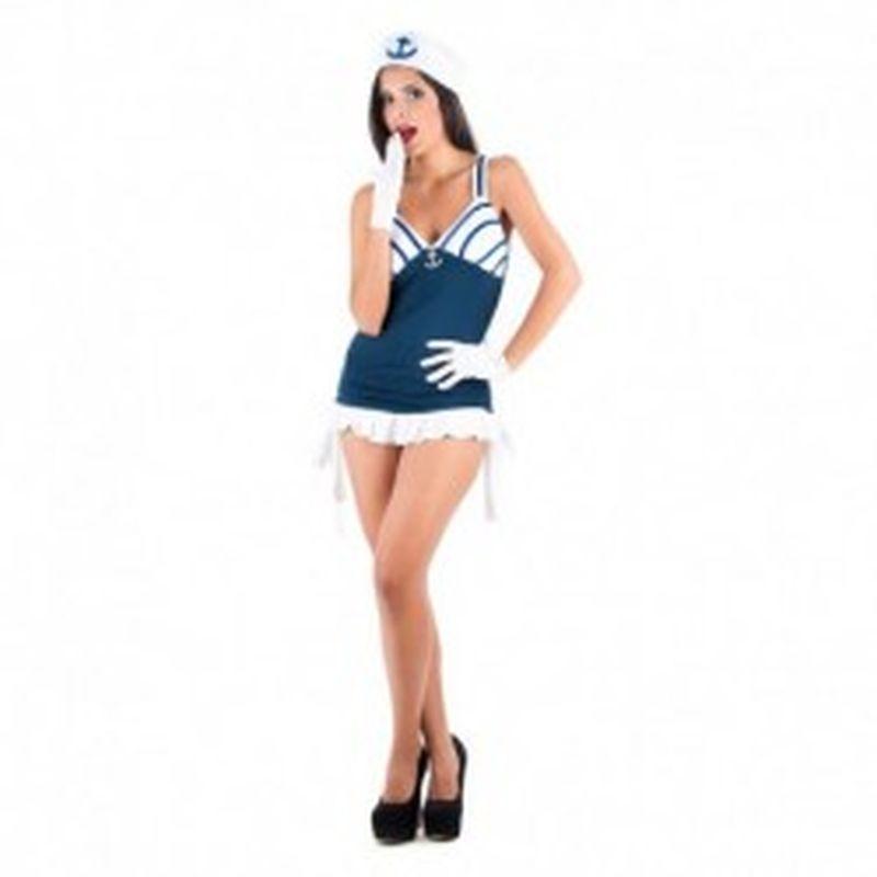 Disfraz Sexy marinera Azul