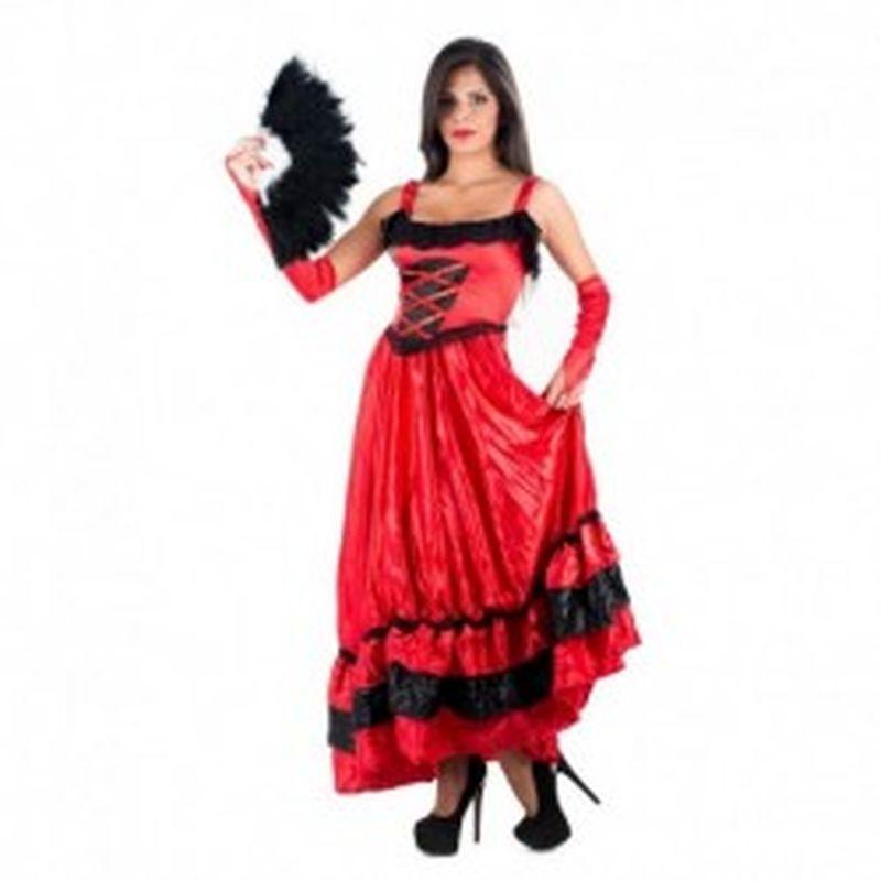 Disfraz Can Can Rojo