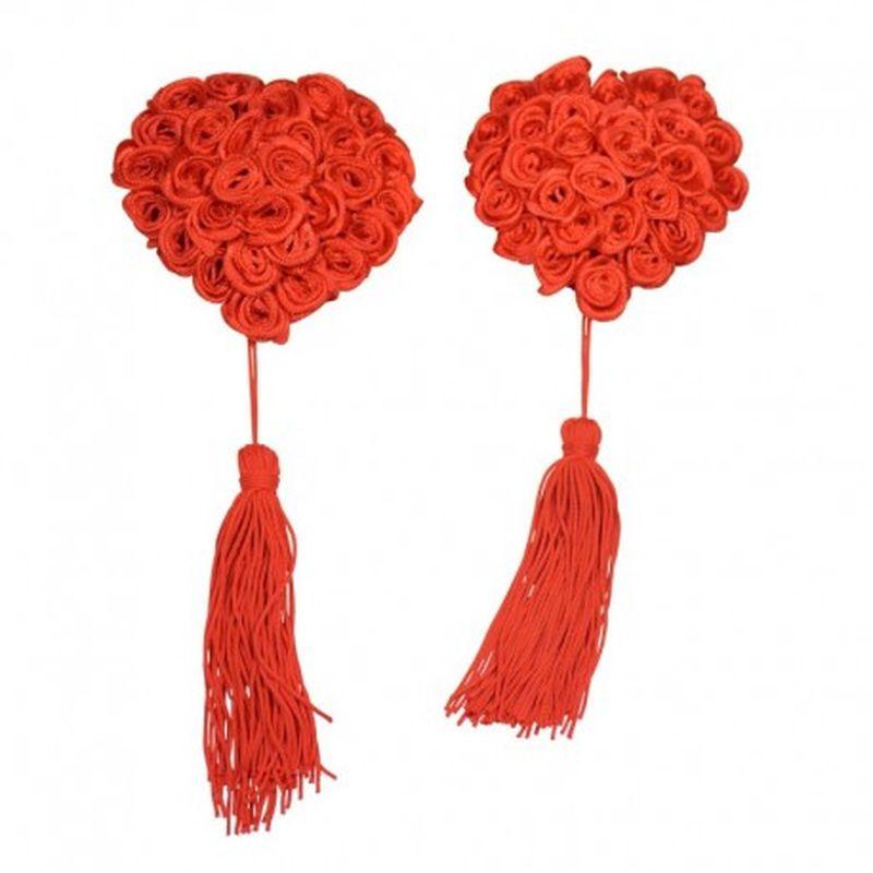 Pezoneras Flower red Rojo