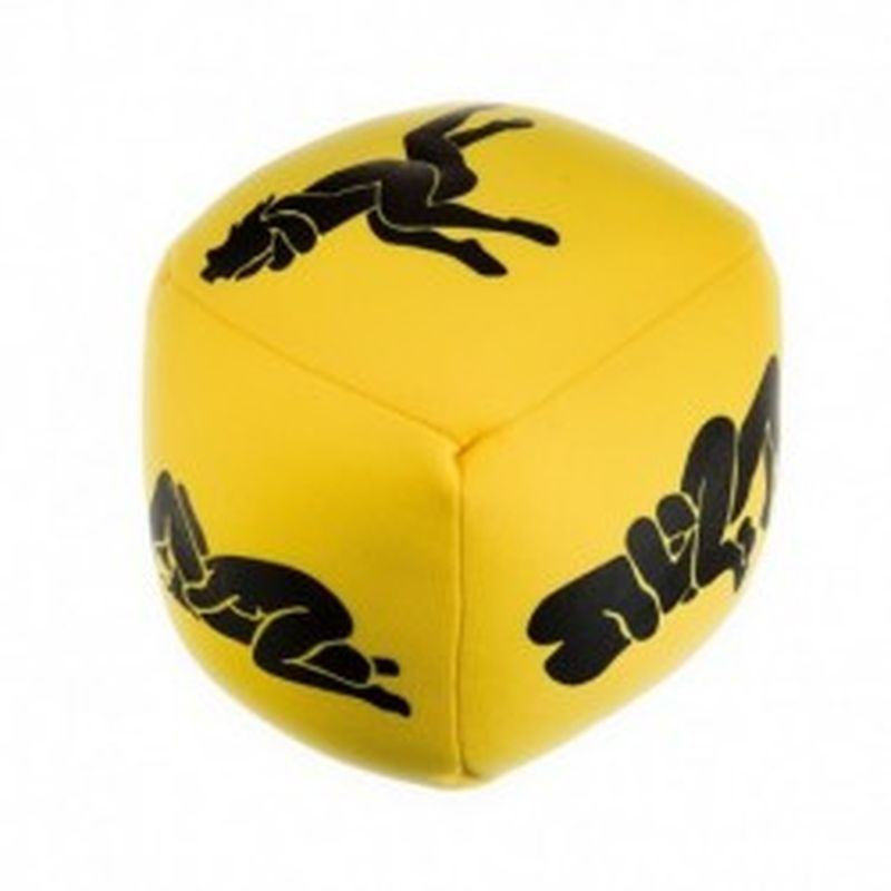 SUPER DADOS KAMASUTRA 12 cm. amarillo