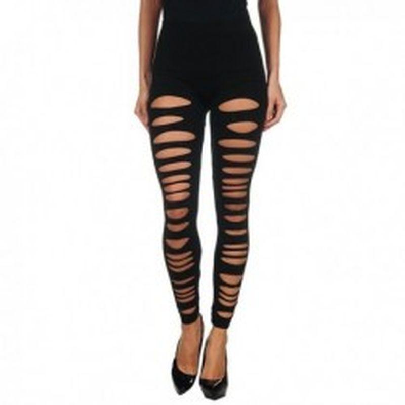 Legging Rasgado Negro