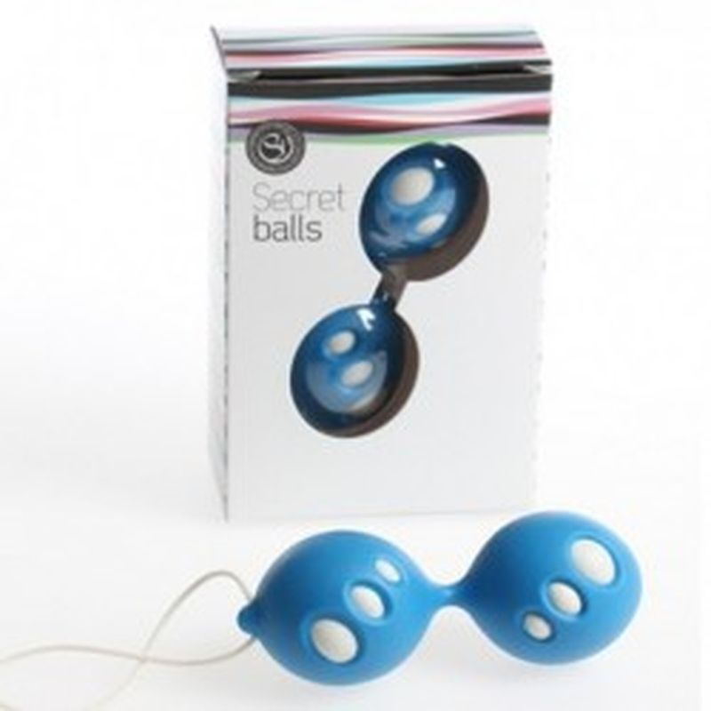 SECRET BALLS: BOLAS CHINAS OVALOS azul
