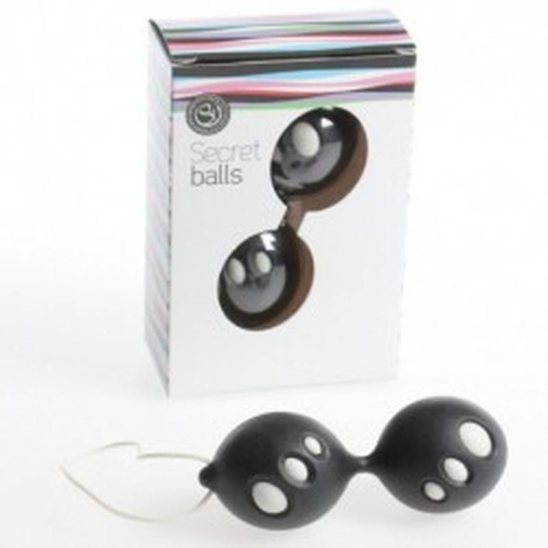 SECRET BALLS: BOLAS CHINAS OVALOS negro