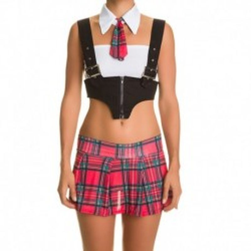 Disfraz Schoolgirl Rojo