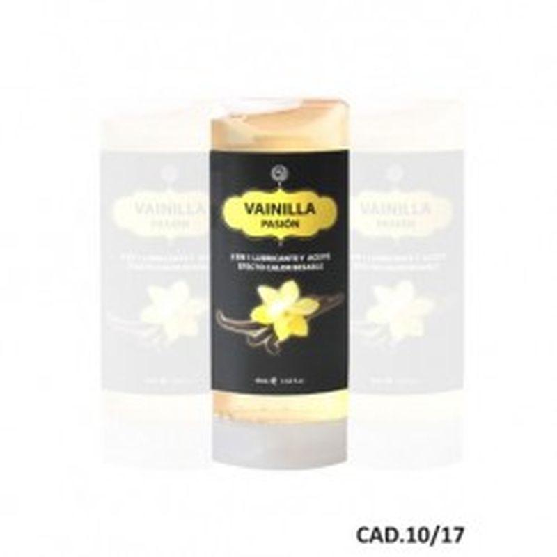 LUBRICANTE Y ACEITE 2 en 1 EFECTO CALOR VAINILLA, 45 ml.