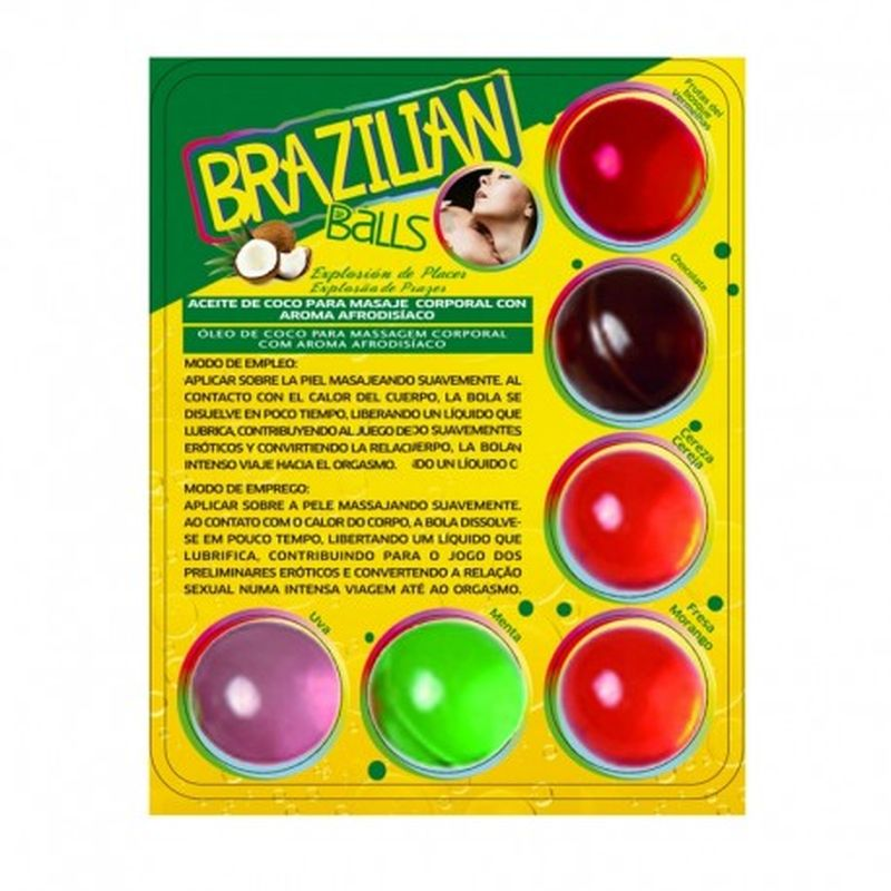 SET 6 BRAZILIAN BALLS CON AROMA DE FRUTAS