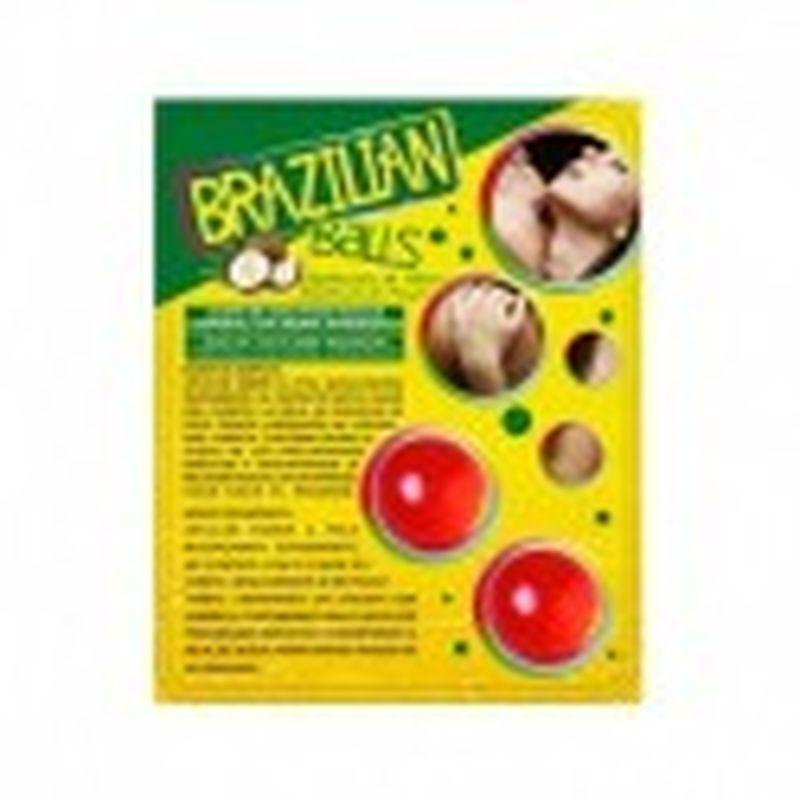 SET 2 BRAZILIAN BALLS CON AROMA DE FRUTAS - FRESA