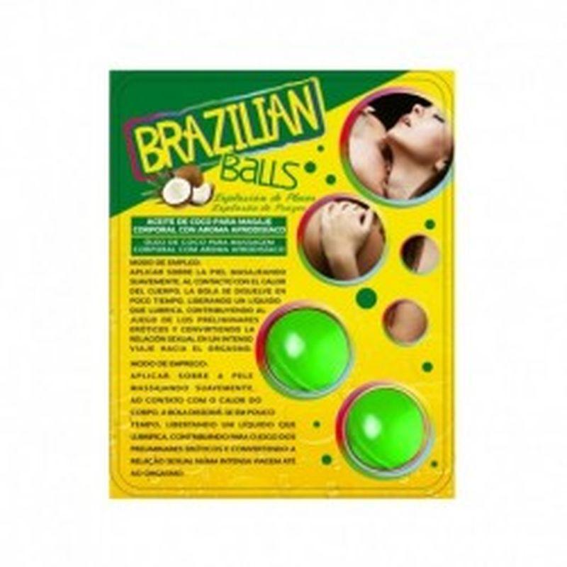 SET 2 BRAZILIAN BALLS CON AROMA DE FRUTAS - MENTA