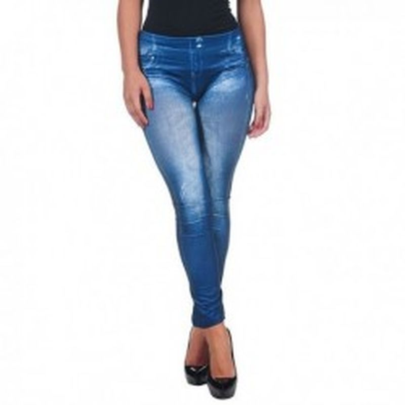 Legging Satinado Azul