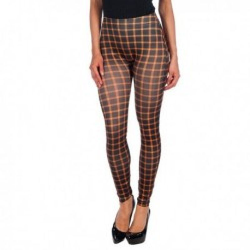 Legging Cuadros Marron