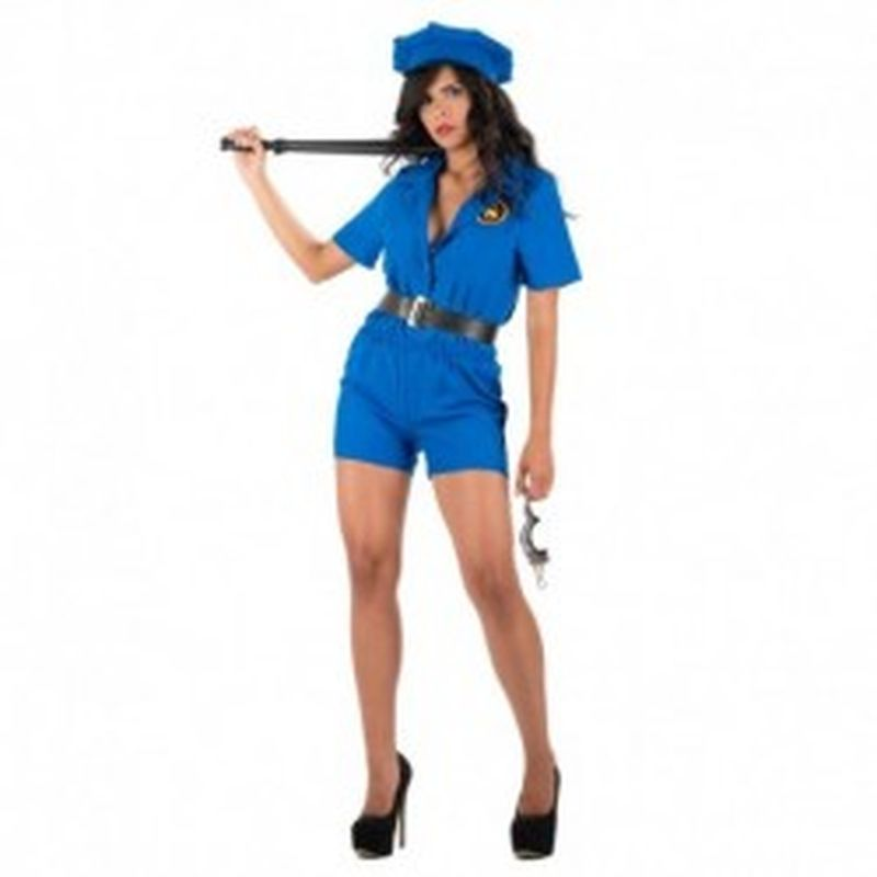 Disfraz Police Olaya Azul