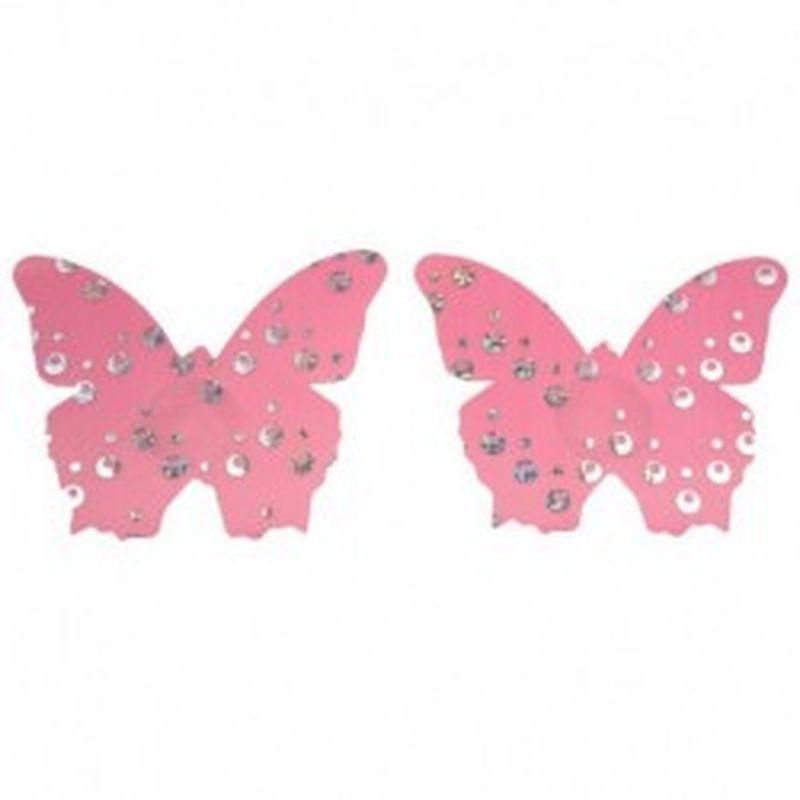 Pezoneras Shiny Butterfly Rosa