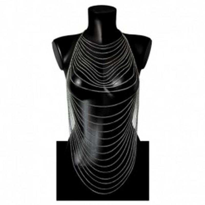 Body Chain Multicapa Ovalo Plata