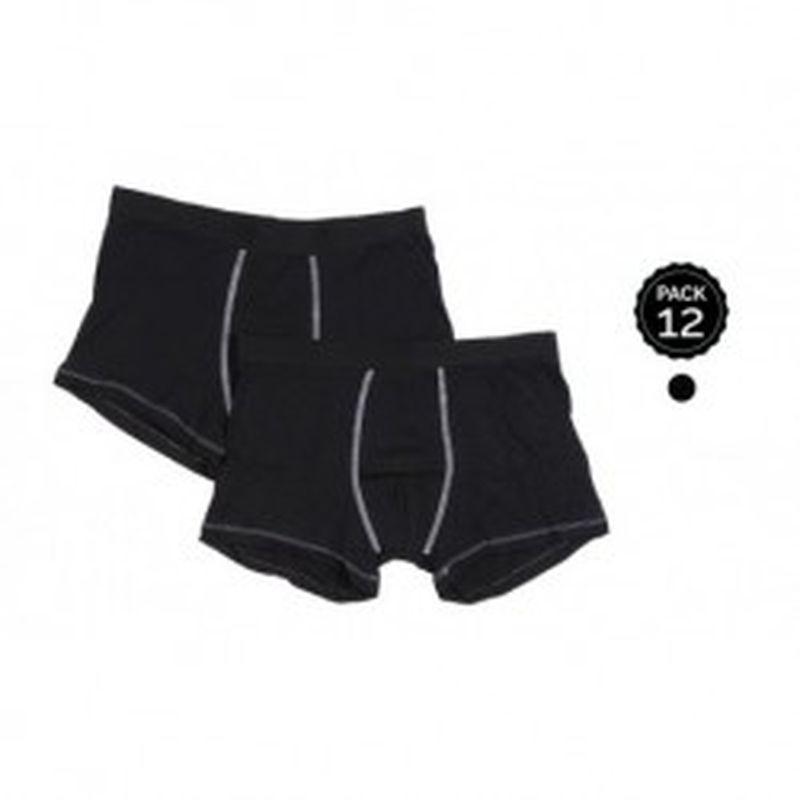 Set 12 Boxers MARGINAL Negro sz XL