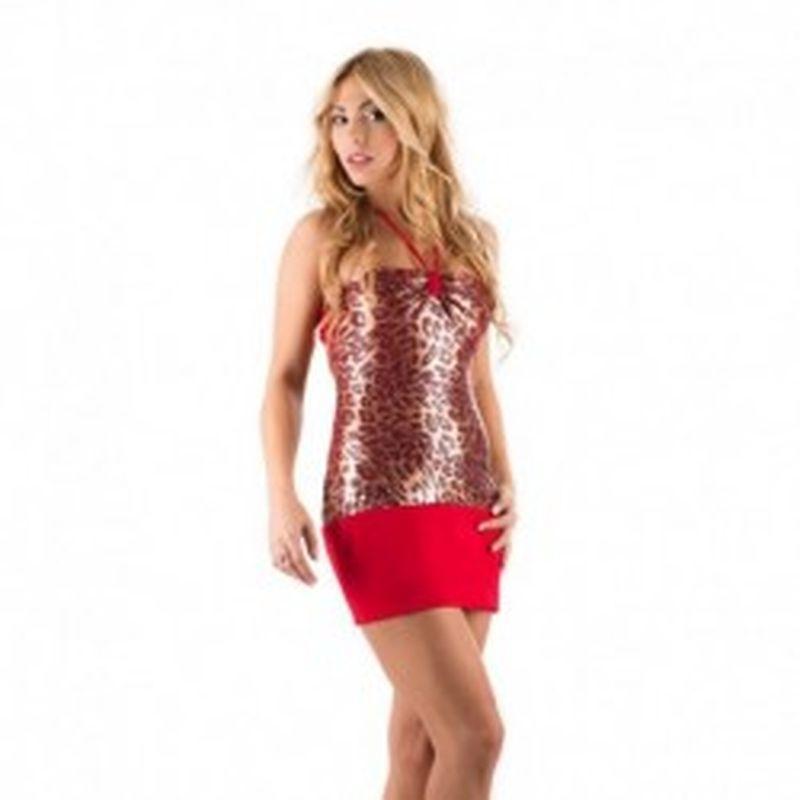 Vestido Montecarlo Leopardo