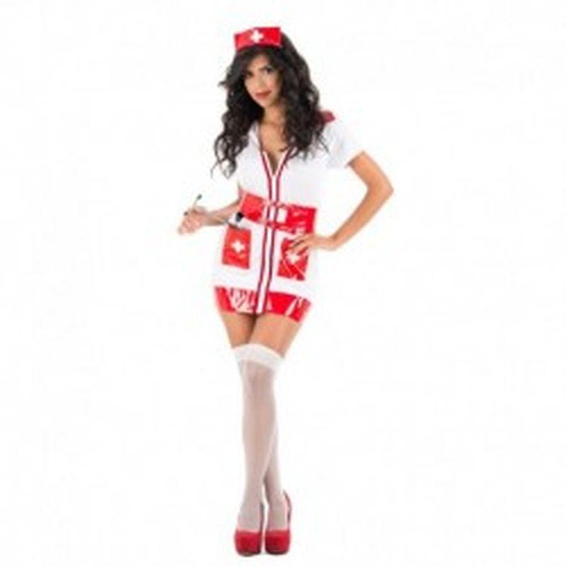 Disfraz Nurse Kim Rojo