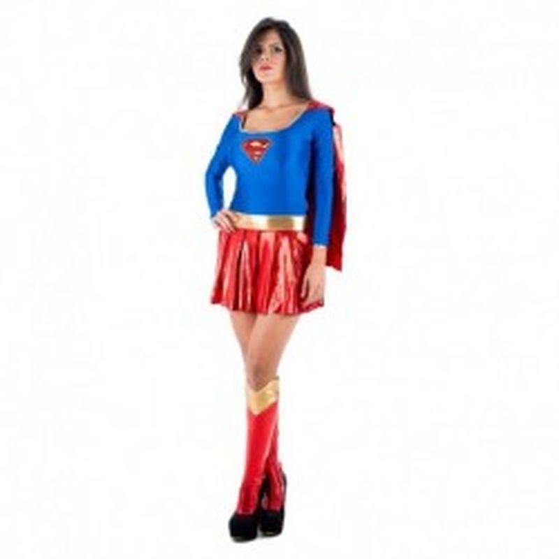 Disfraz Superwoman Azul