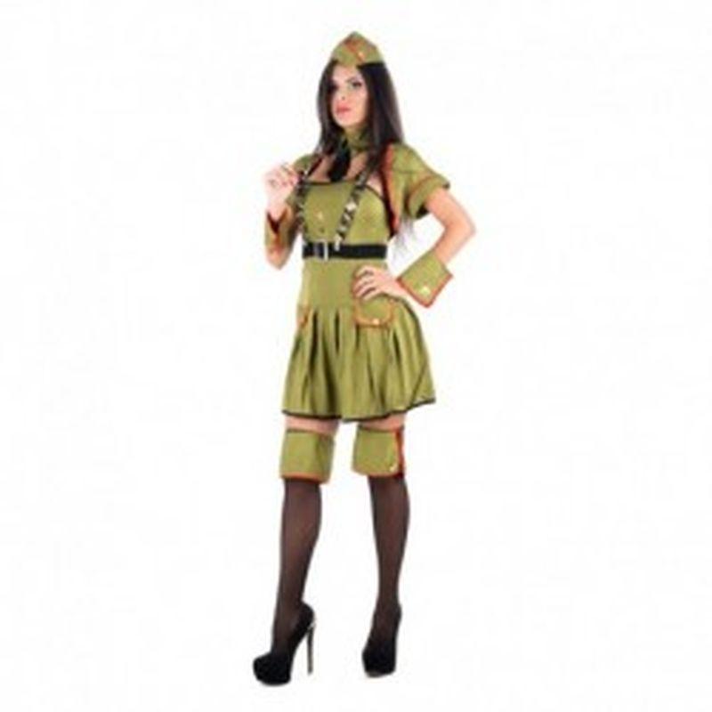 Disfraz Sexy militar Verde