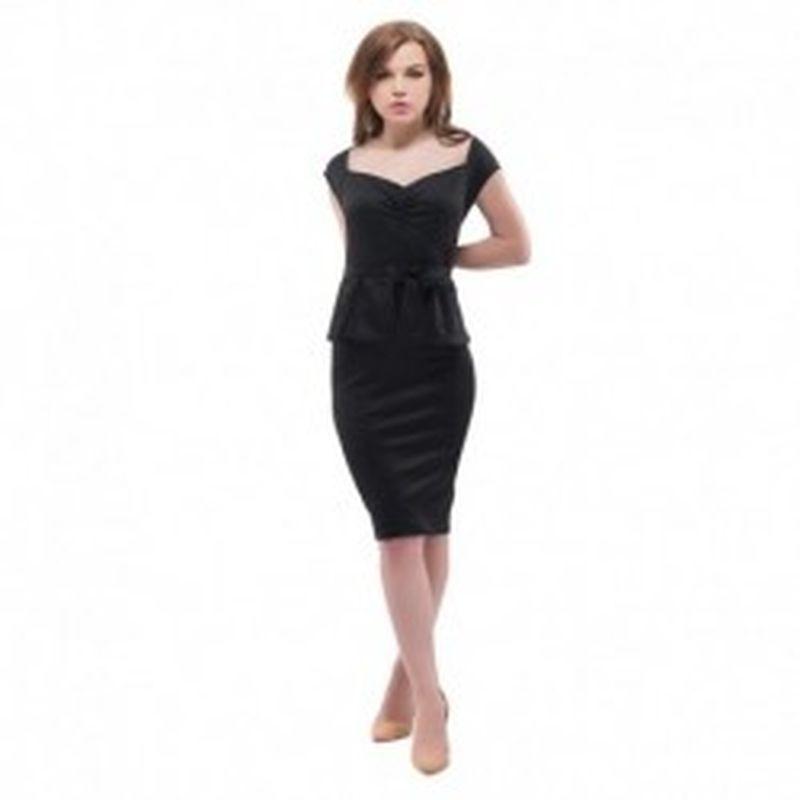 Vestido Maglie Negro